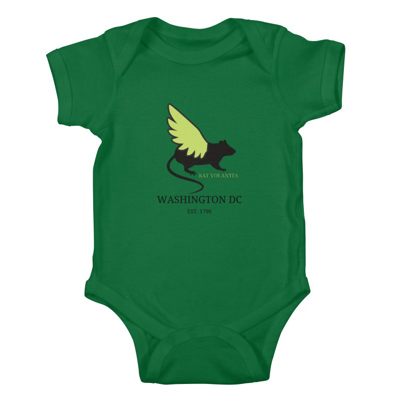 Flying Rat: Washington DC Kids Baby Bodysuit by avian30