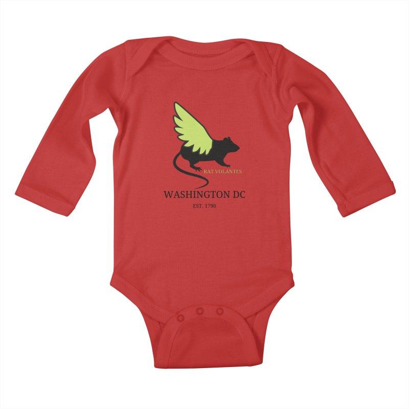 Flying Rat: Washington DC Kids Baby Longsleeve Bodysuit by avian30