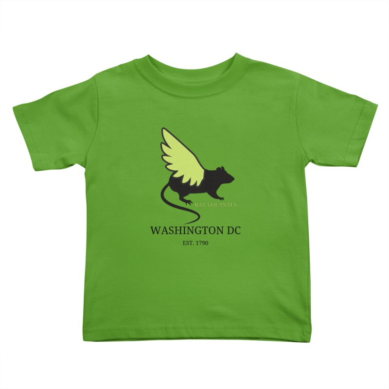 Flying Rat: Washington DC Kids Toddler T-Shirt by avian30