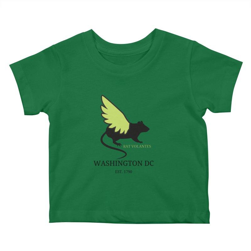 Flying Rat: Washington DC Kids Baby T-Shirt by avian30