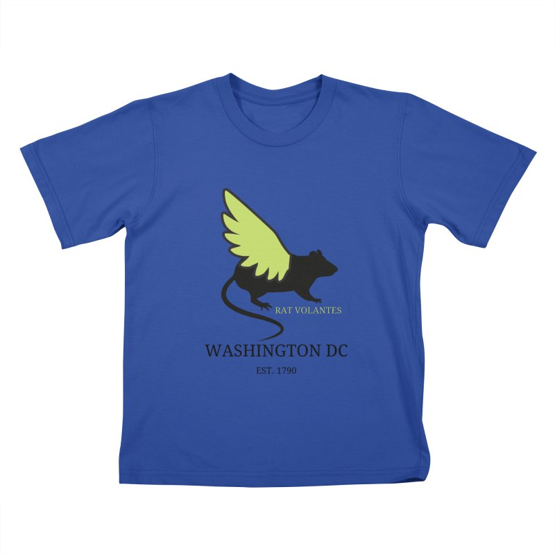 Flying Rat: Washington DC Kids T-Shirt by avian30