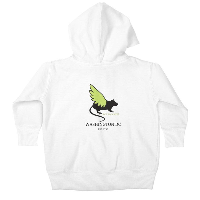 Flying Rat: Washington DC Kids Baby Zip-Up Hoody by avian30