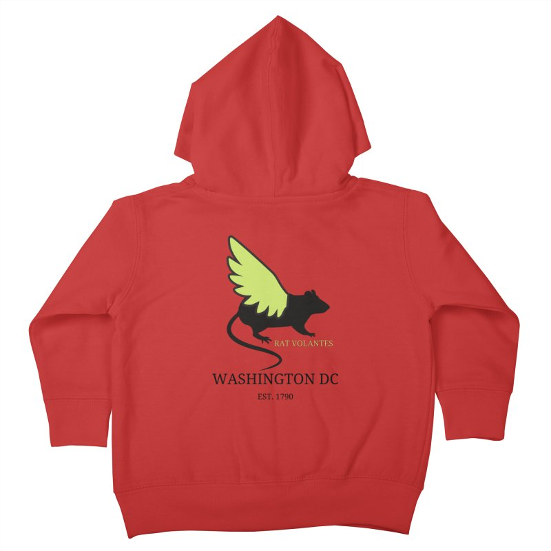 Flying Rat: Washington DC Kids Toddler Zip-Up Hoody by avian30