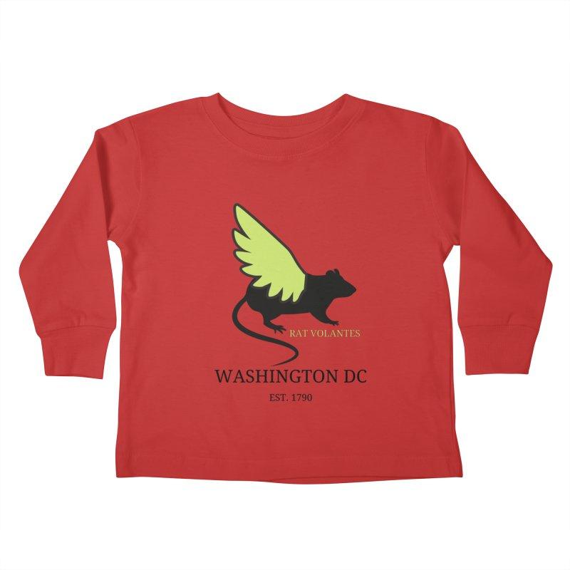 Flying Rat: Washington DC Kids Toddler Longsleeve T-Shirt by avian30