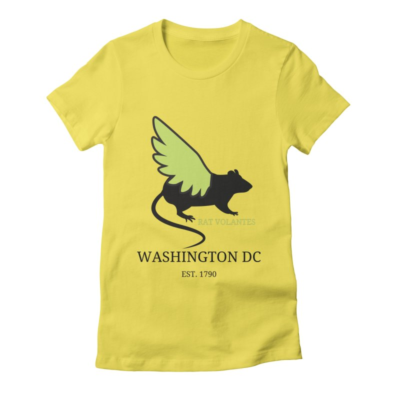 Flying Rat: Washington DC Women's T-Shirt by avian30