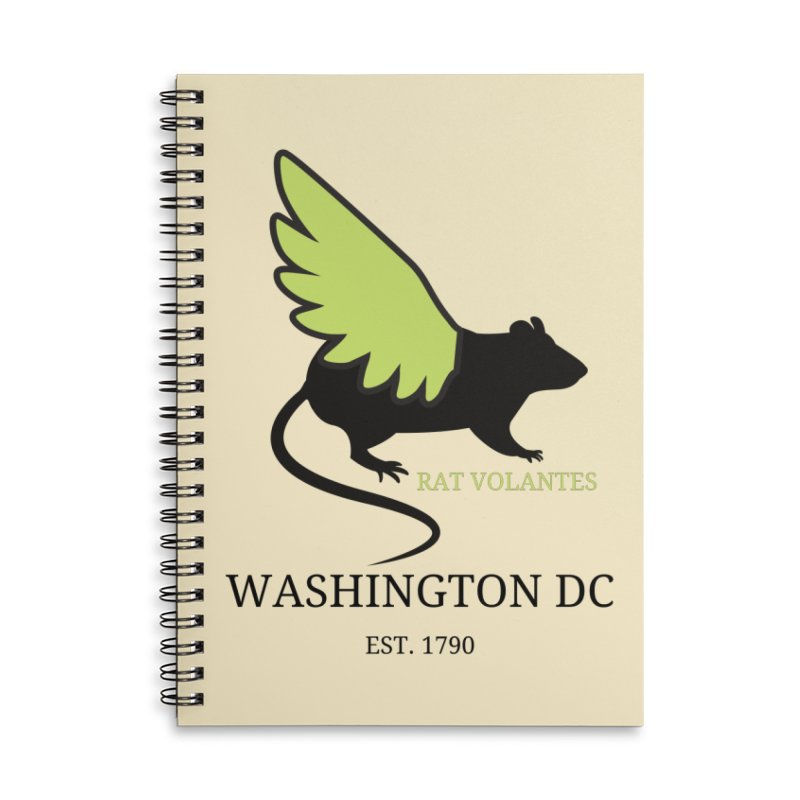 Flying Rat: Washington DC Accessories Notebook by avian30