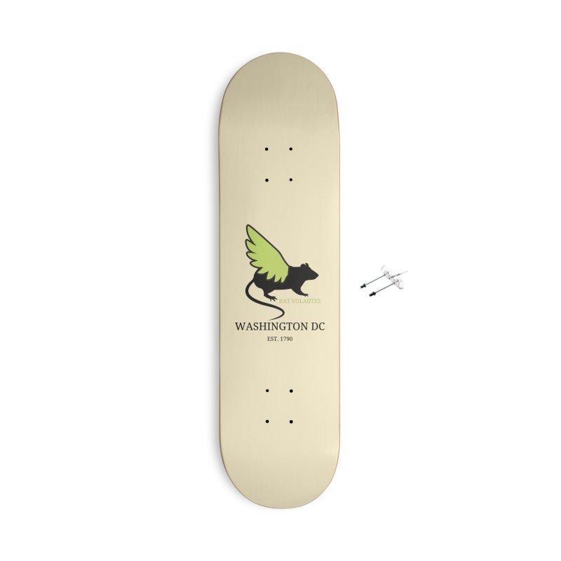 Flying Rat: Washington DC Accessories Skateboard by avian30