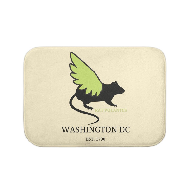 Flying Rat: Washington DC Home Bath Mat by avian30