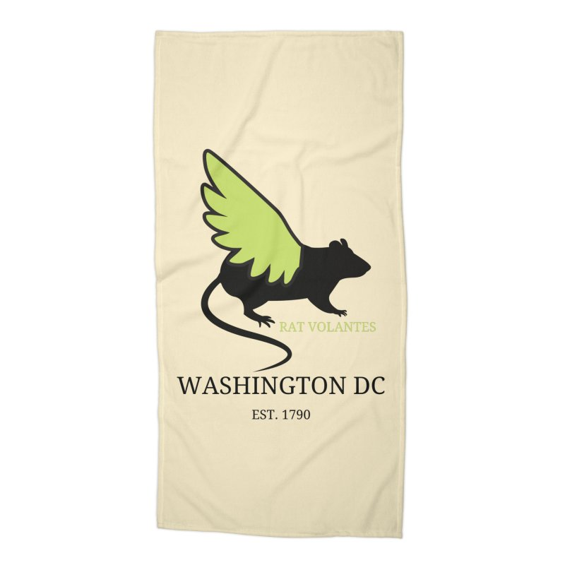 Flying Rat: Washington DC Accessories Beach Towel by avian30