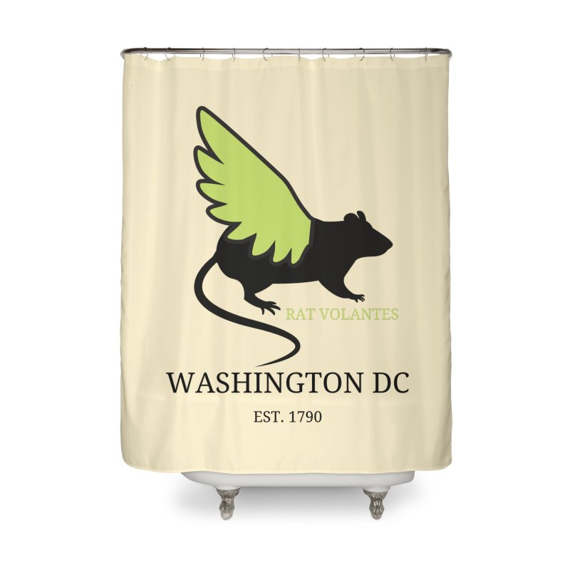 Flying Rat: Washington DC Home Shower Curtain by avian30