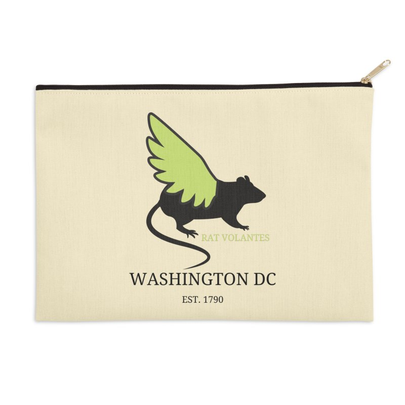 Flying Rat: Washington DC Accessories Zip Pouch by avian30