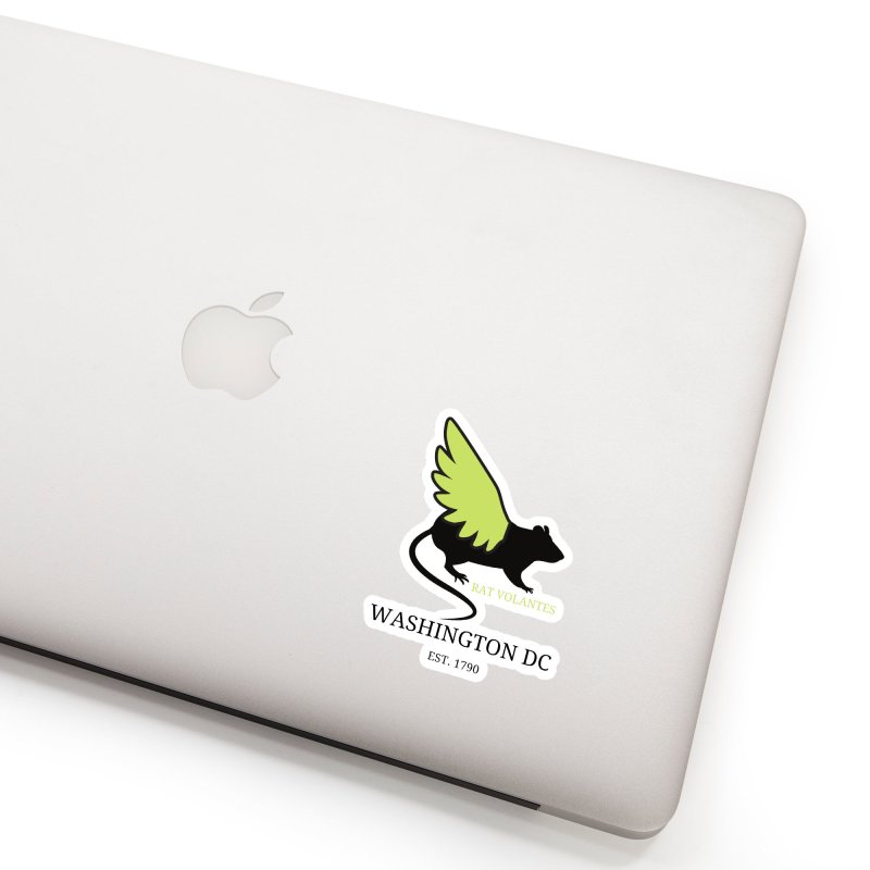 Flying Rat: Washington DC Accessories Sticker by avian30
