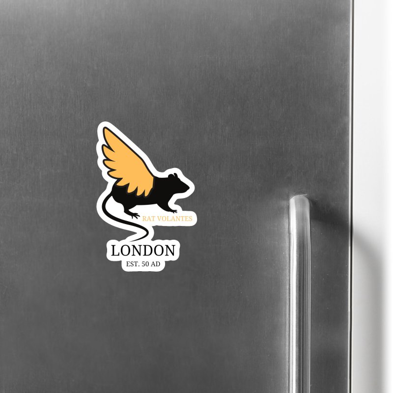 Flying Rat: London Accessories Magnet by avian30