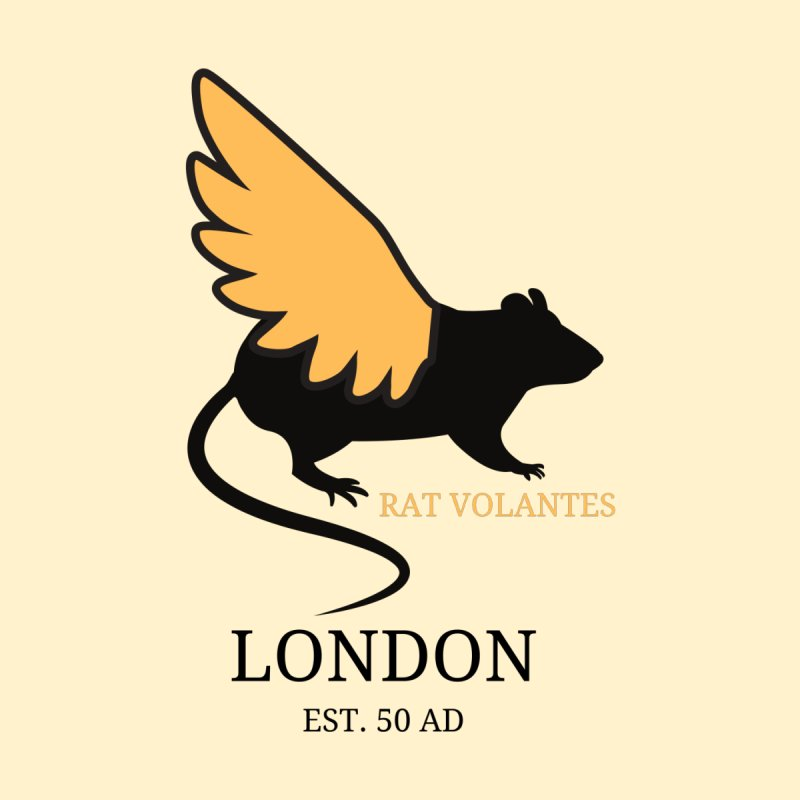 Flying Rat: London Accessories Sticker by avian30