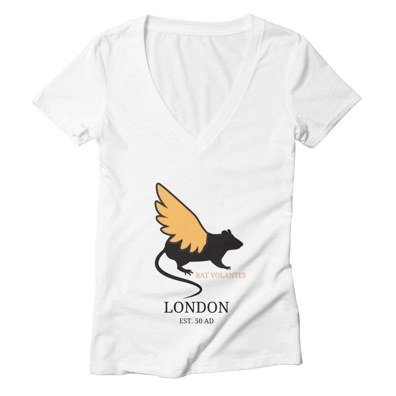 Flying Rat: London Women's V-Neck by avian30