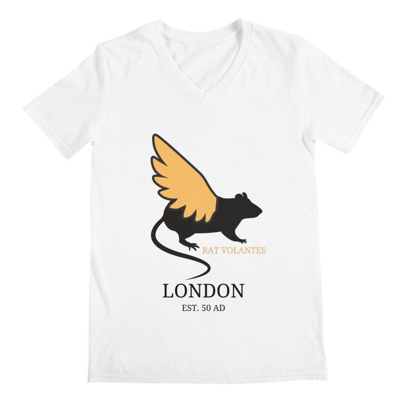 Flying Rat: London Men's V-Neck by avian30