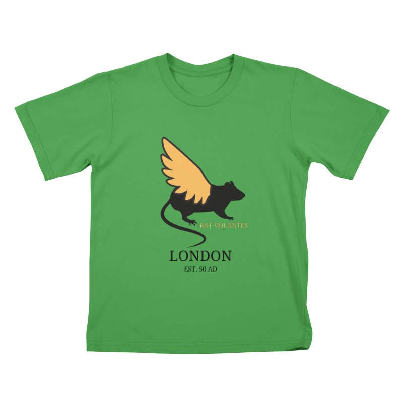 Flying Rat: London Kids T-Shirt by avian30
