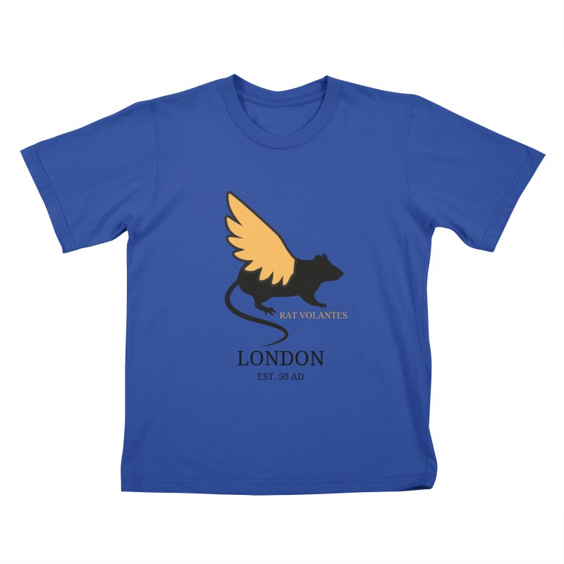 Flying Rat: London Kids T-Shirt by avian30