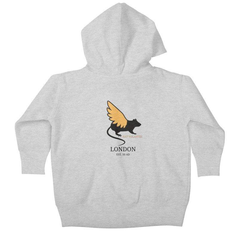 Flying Rat: London Kids Baby Zip-Up Hoody by avian30