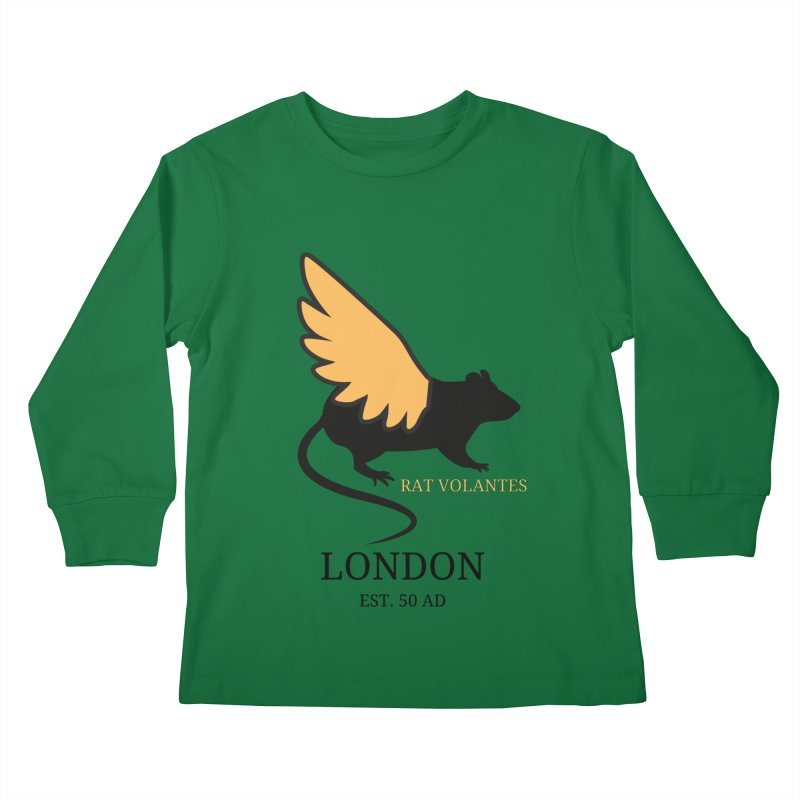 Flying Rat: London Kids Longsleeve T-Shirt by avian30