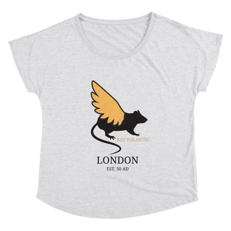 Flying Rat: London Women's Scoop Neck by avian30