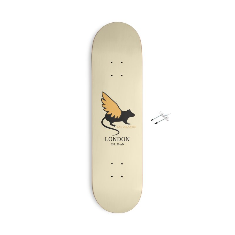 Flying Rat: London Accessories Skateboard by avian30