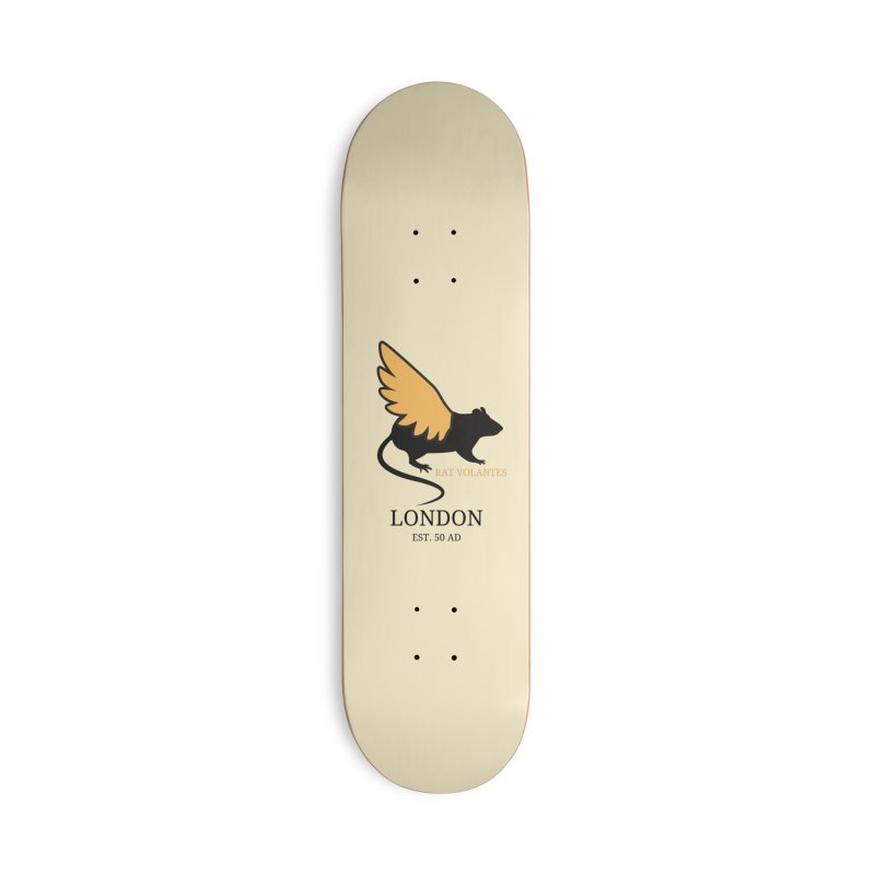 Flying Rat: London Accessories Skateboard by avian30