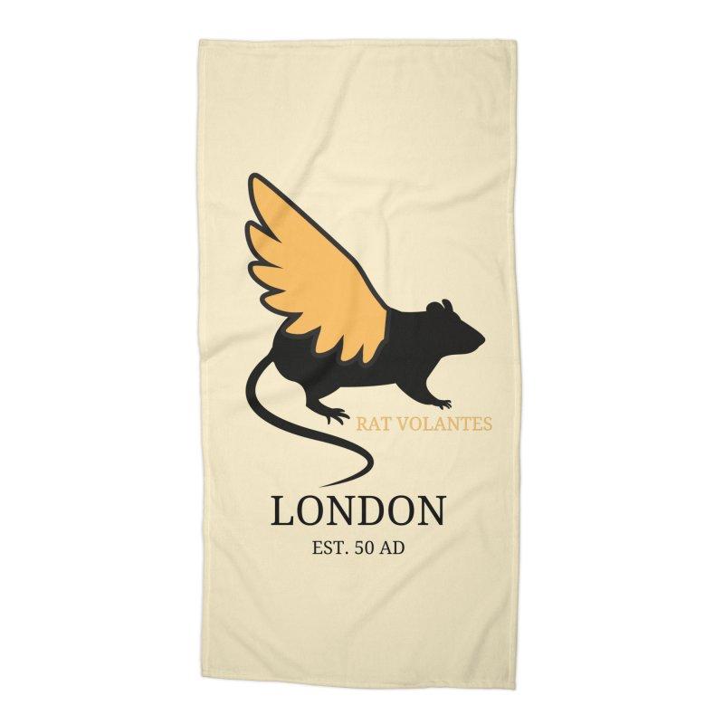 Flying Rat: London Accessories Beach Towel by avian30