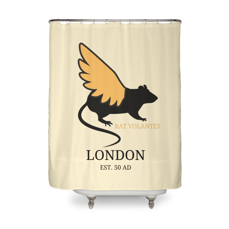 Flying Rat: London Home Shower Curtain by avian30