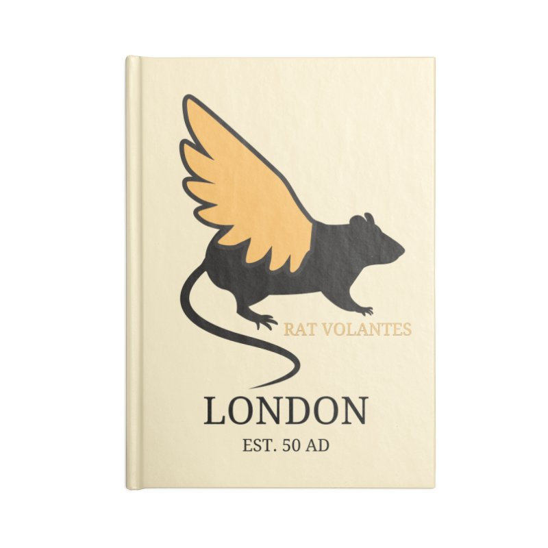 Flying Rat: London Accessories Notebook by avian30