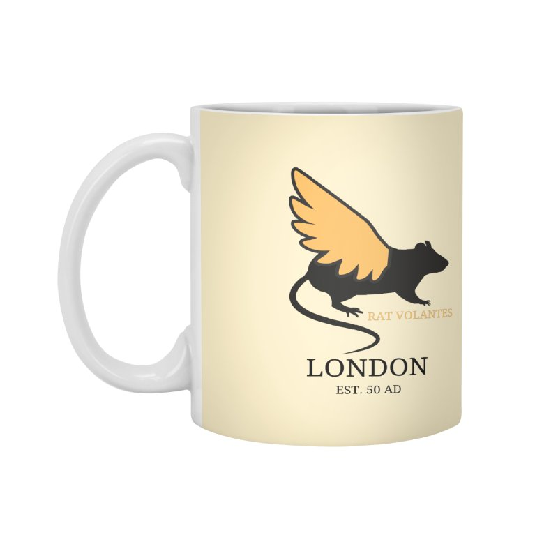 Flying Rat: London Accessories Mug by avian30