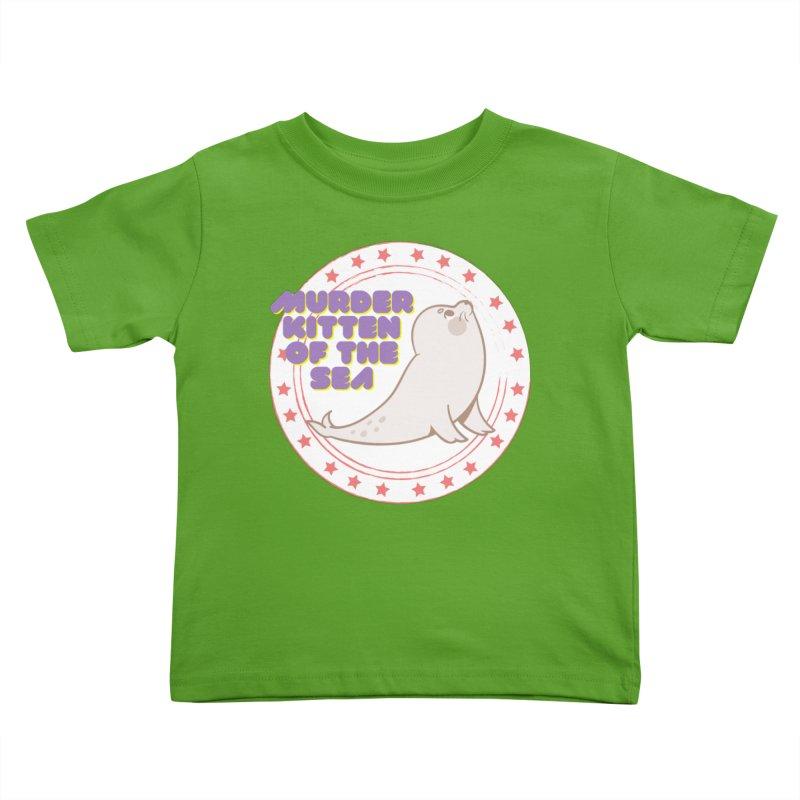 Murder Kitten of the Sea Kids Toddler T-Shirt by avian30
