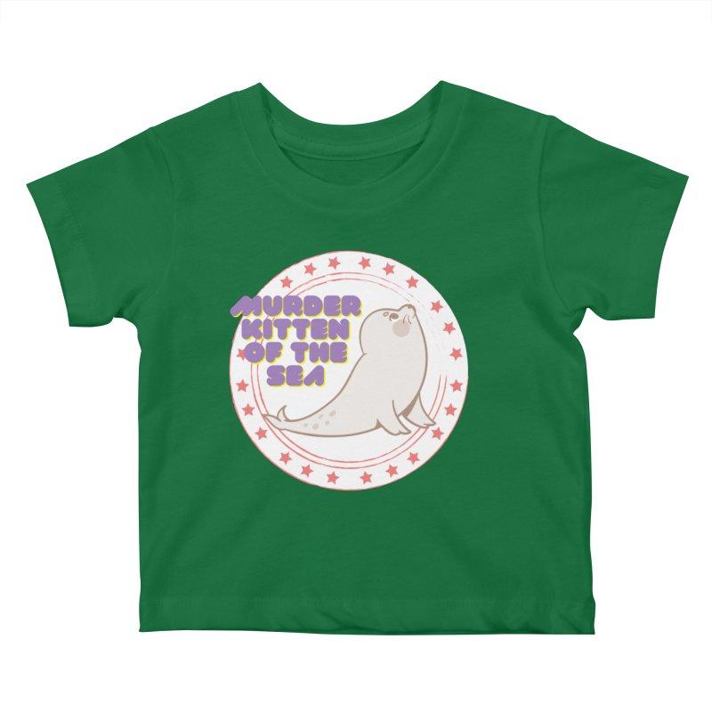 Murder Kitten of the Sea Kids Baby T-Shirt by avian30