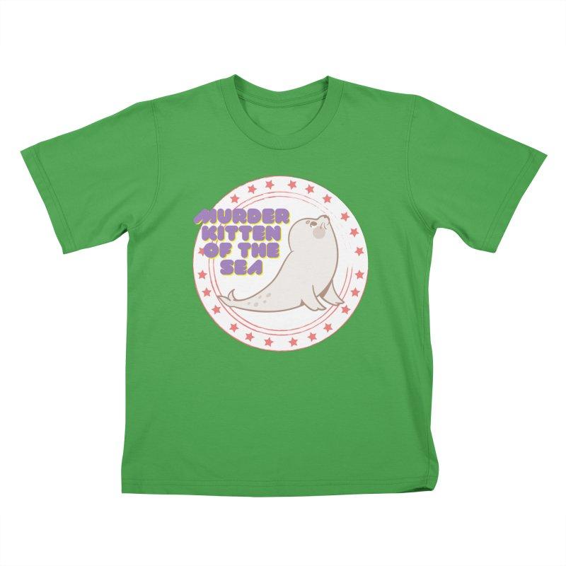Murder Kitten of the Sea Kids T-Shirt by avian30