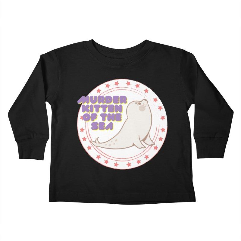 Murder Kitten of the Sea Kids Toddler Longsleeve T-Shirt by avian30