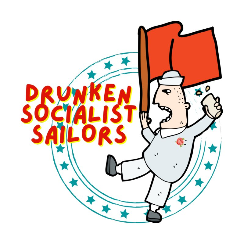 Drunken Socialist Sailors Men's V-Neck by avian30