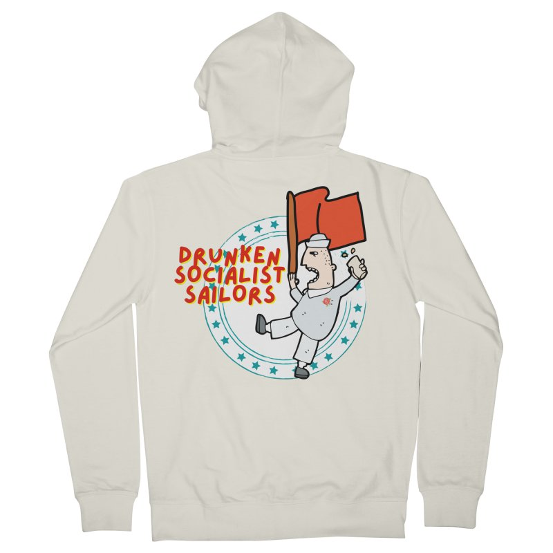 Drunken Socialist Sailors Men's Zip-Up Hoody by avian30