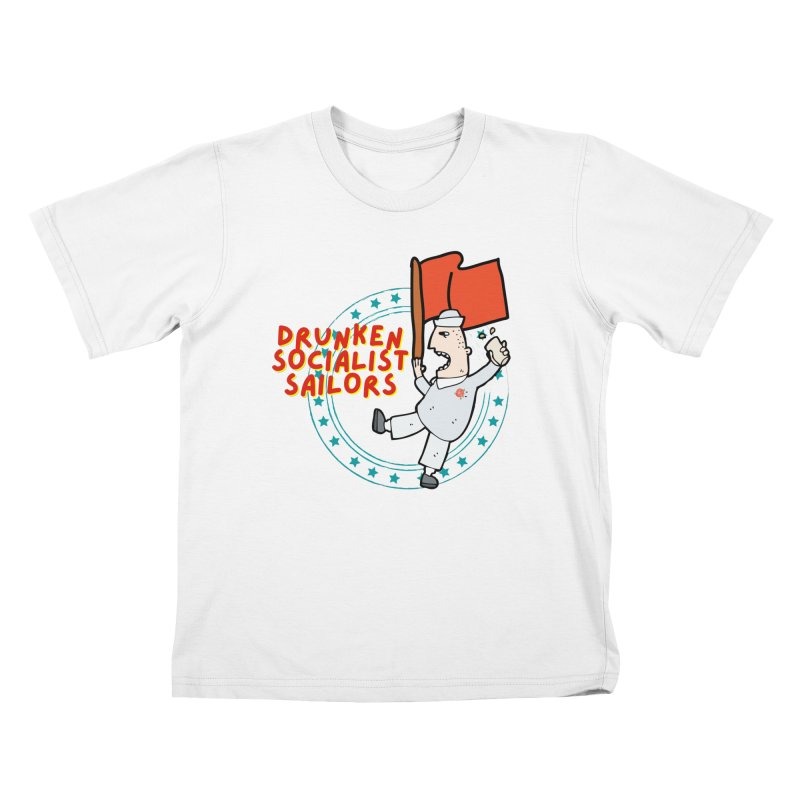 Drunken Socialist Sailors Kids T-Shirt by avian30