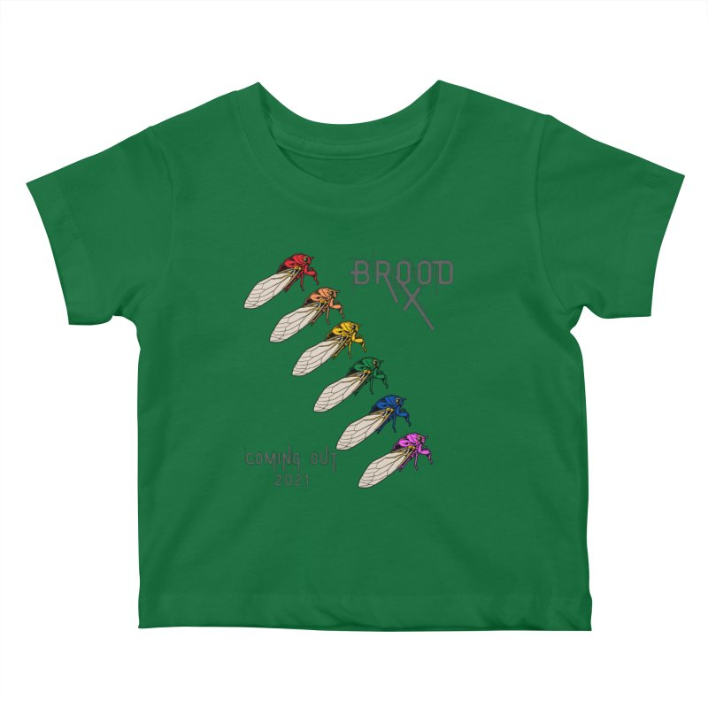 Gay Cicadas Kids Baby T-Shirt by avian30