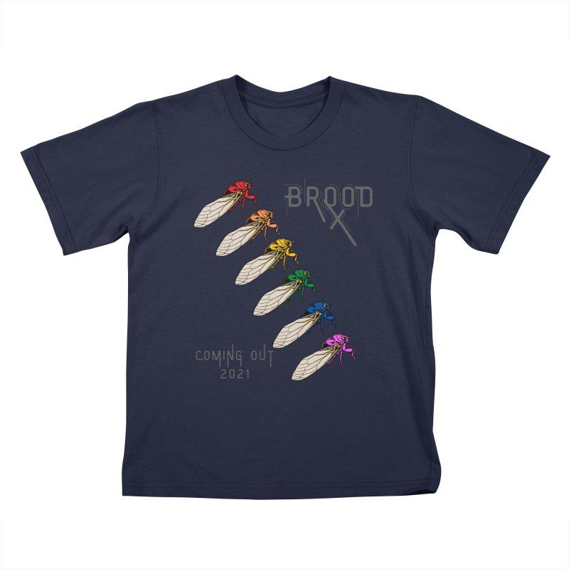 Gay Cicadas Kids T-Shirt by avian30