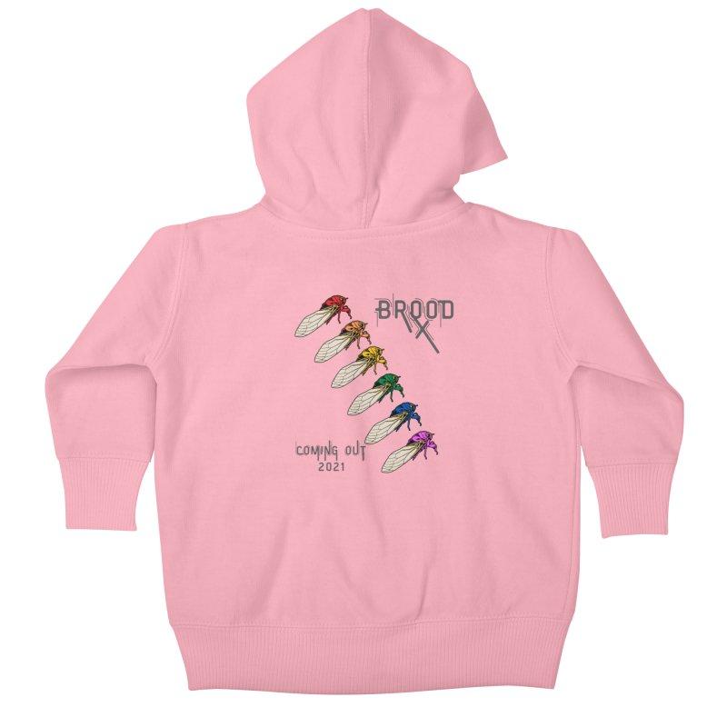 Gay Cicadas Kids Baby Zip-Up Hoody by avian30
