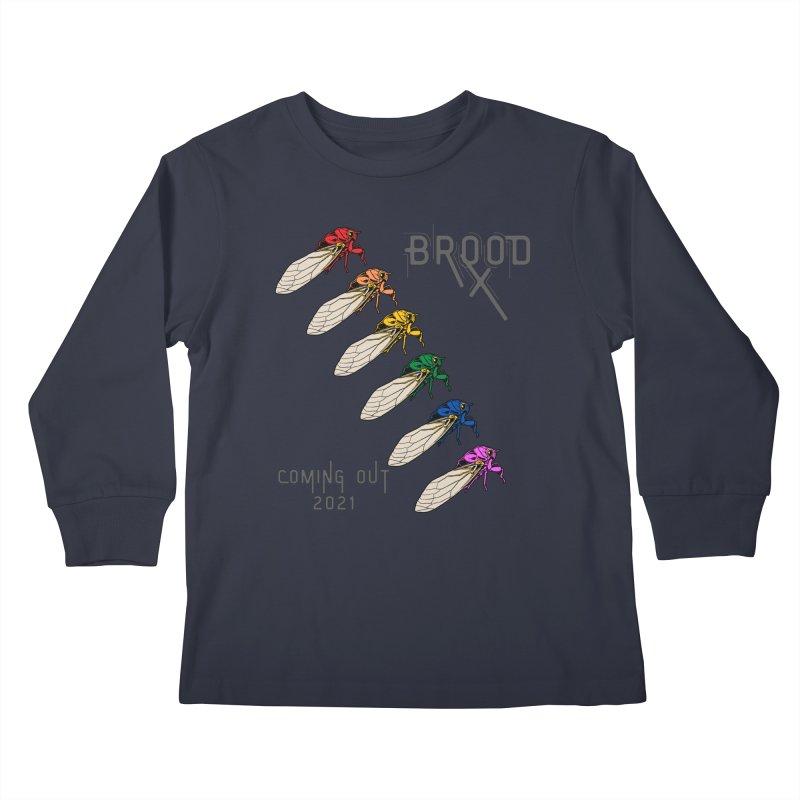 Gay Cicadas Kids Longsleeve T-Shirt by avian30