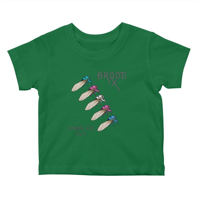 Trans Cicadas Kids Baby T-Shirt by avian30