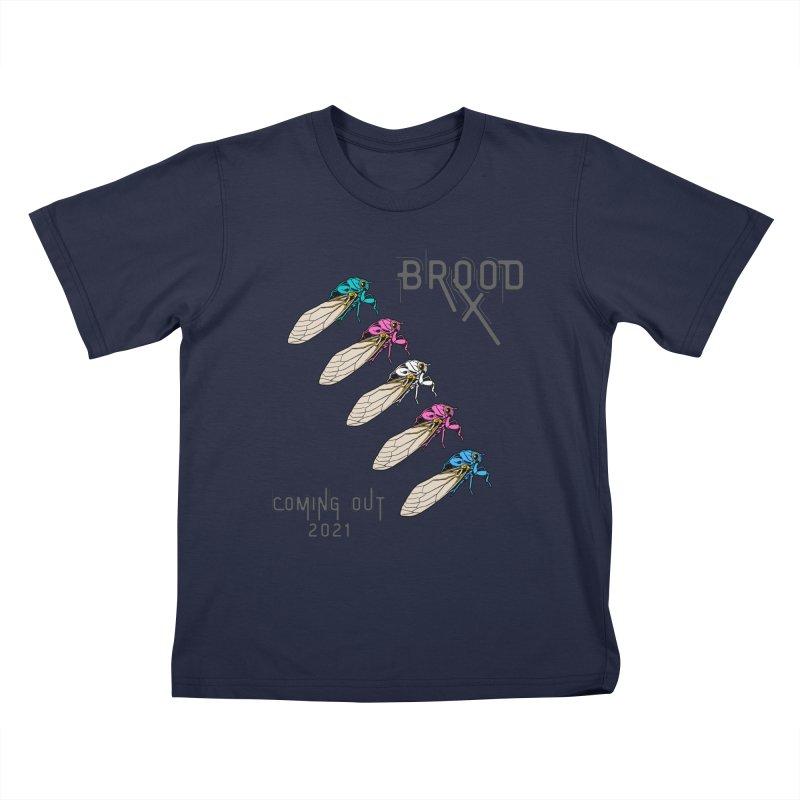 Trans Cicadas Kids T-Shirt by avian30