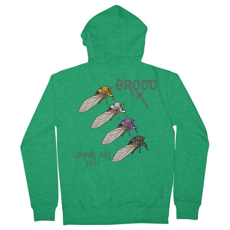 Non-Binary Cicadas Men's Zip-Up Hoody by avian30
