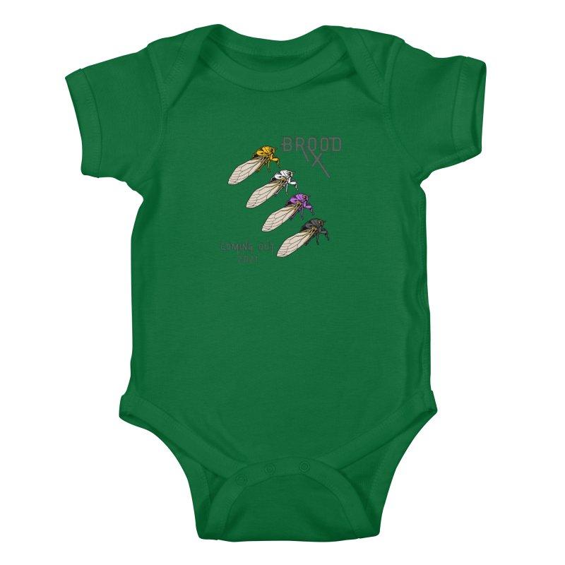 Non-Binary Cicadas Kids Baby Bodysuit by avian30