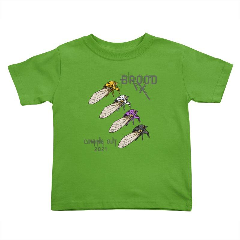 Non-Binary Cicadas Kids Toddler T-Shirt by avian30