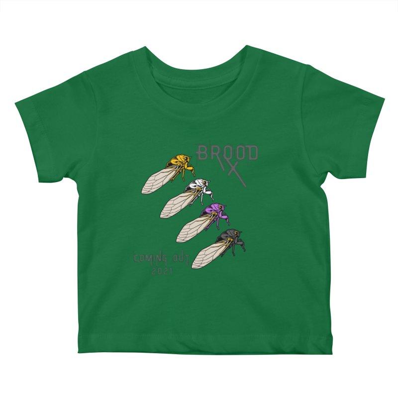 Non-Binary Cicadas Kids Baby T-Shirt by avian30