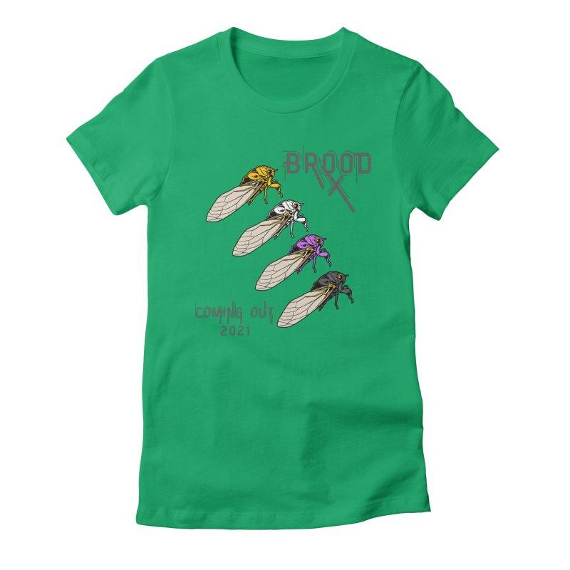 Non-Binary Cicadas Women's T-Shirt by avian30