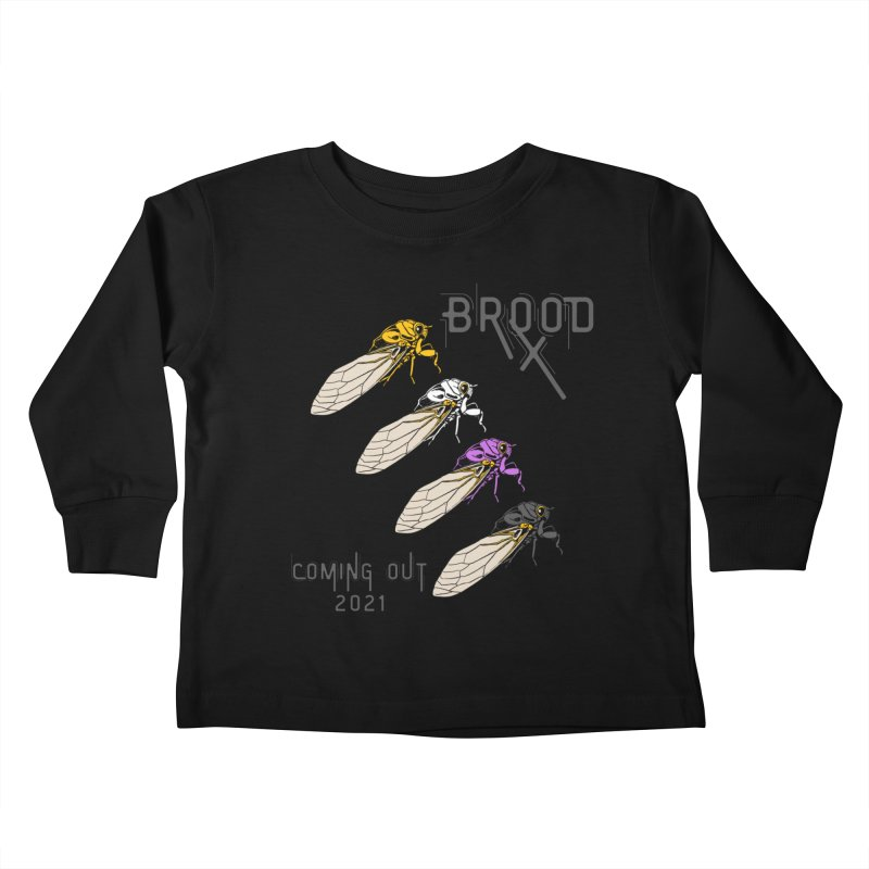 Non-Binary Cicadas Kids Toddler Longsleeve T-Shirt by avian30